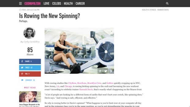 Is Rowing the New Spinning